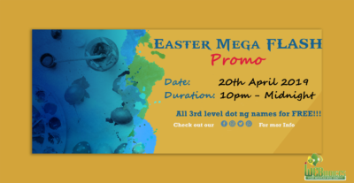 Web Indices Easter Mega Flash Promo